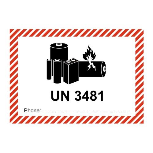 Transportaufkleber Un 3481 Lithium Ionen Akkus